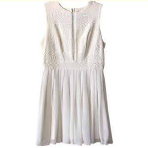 ASOS White Petite Cocktail Dress Size 10